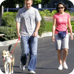 Nellie & her mom and dad enjoy a nice leash outing together!